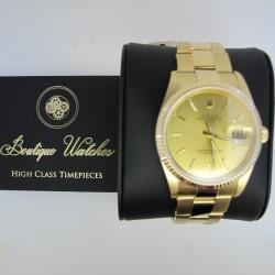 Rolex Date 15238 - cadran auriu