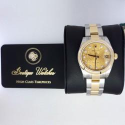 Rolex Datejust 178243 - cadran auriu / diamante