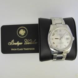 Rolex Oyster Perpetual Date 115234 - cadran argintiu