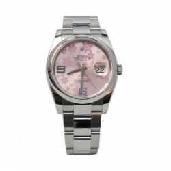 Rolex Datejust 116200 - cadran roz floral