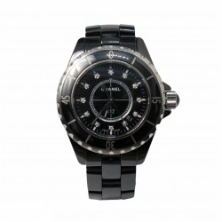 Chanel J12 Black Ceramic - cadran negru