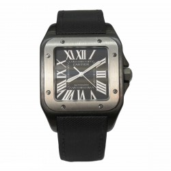 Cartier Santos 100 2656/216867PX - cadran negru