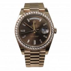 Rolex Day-Date 40 228345RBR - cadran maro