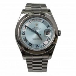 Rolex Day-Date II 218206 - cadran blue