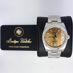 Rolex Oyster Perpetual 116000 - cadran coniac